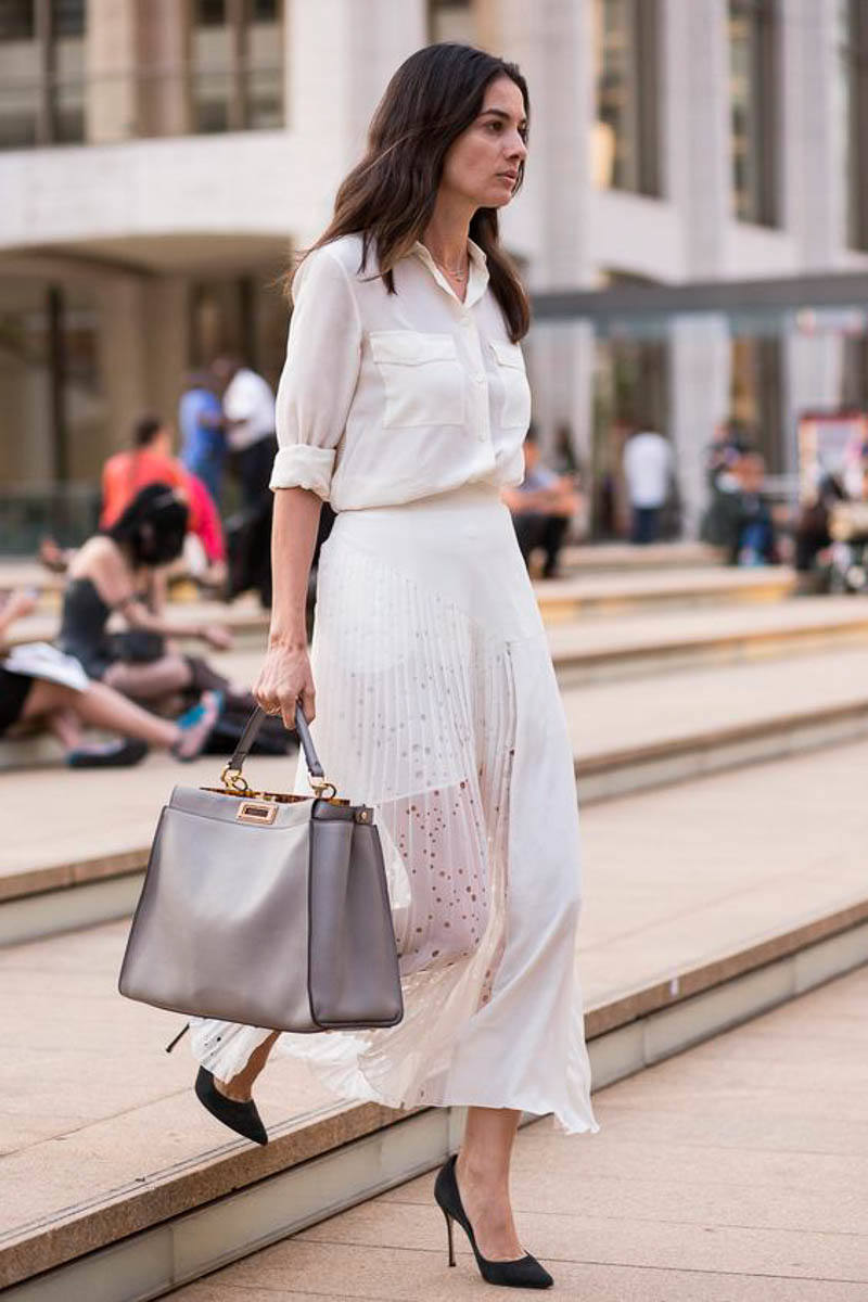 FENDI PEEKABOO Bag Street Style Outfit Celebrity