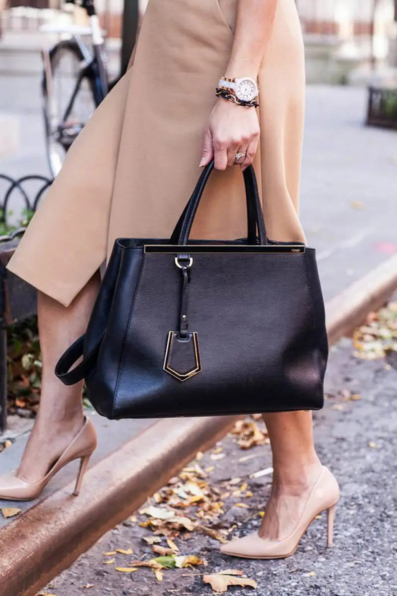 Fendi Bag Street Style Outfit Celebrity