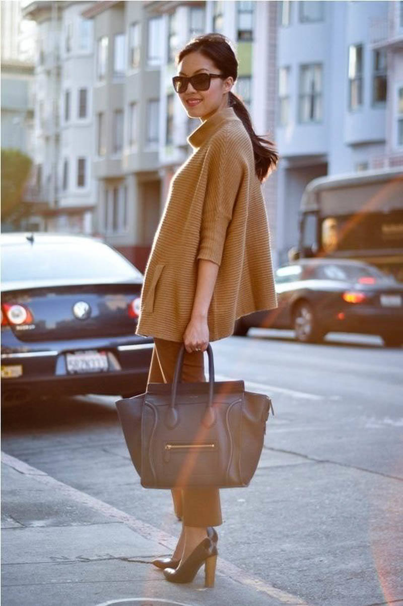 Celine Luggage Bag Street Style Outfit Celebrity
