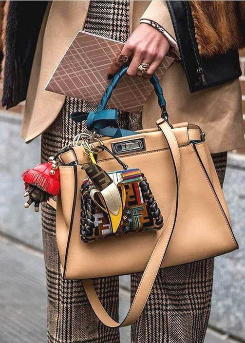 Fendi Peekaboo Bag street style outfit