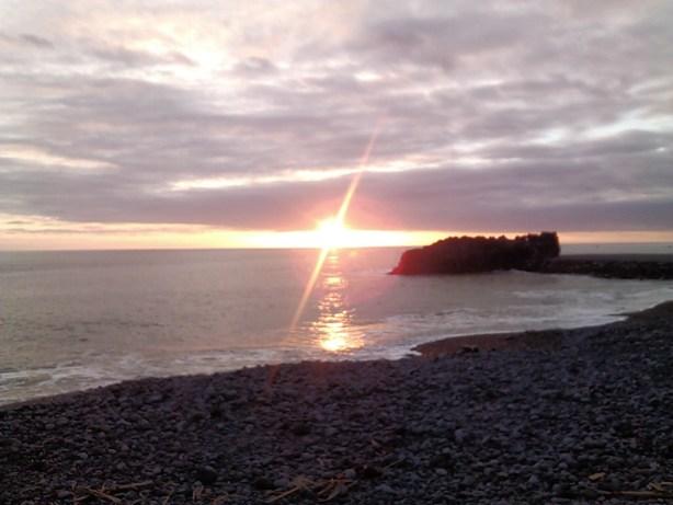 Por do sol visto da Promenade da Praia Formosa
