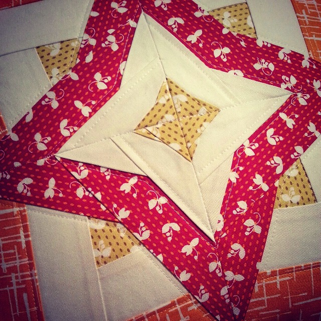 Madrona Road Pillow (close-up of quilting) - from Marta with Love