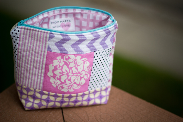 from Marta with Love - girly zip pouch