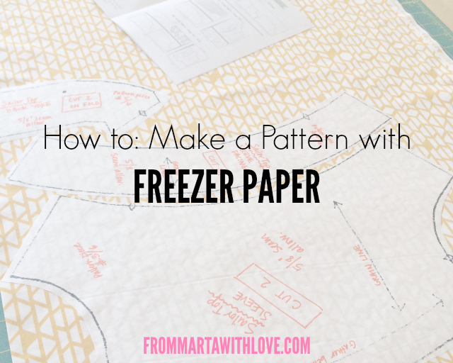 Freezer Paper Tutorial | from Marta with Love