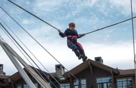 Colin on the trapeze