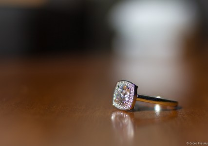 Maureen's new Engagement ring - 10 Years!