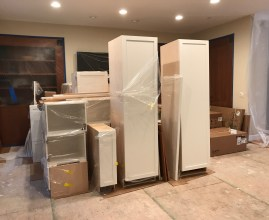 staging the cabinets