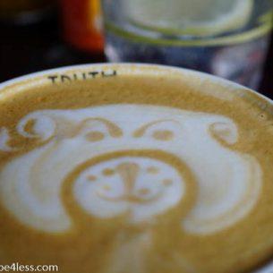 Truth Coffee Company coffee design - dog