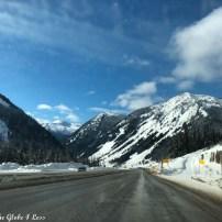 Highway between Kamloops and the US border