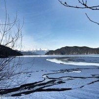 Frozen water at Harrison Hot Springs