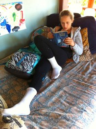 this girls loooves reading...