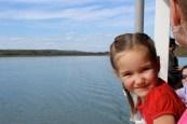 Ashley enjoying the boat ride