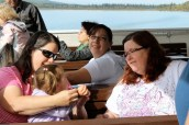 Carol, Sarah, Amanda, and Aunty Donna on the boat