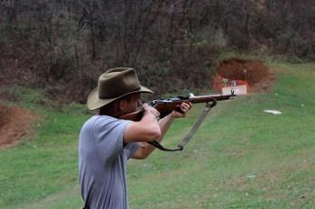 Jonathan shooting the M 91/30 -- Mosin Nagant