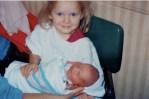 Christen and her new little sister