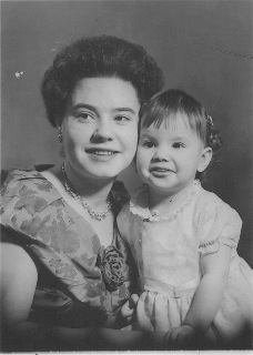 Aunty Pam as a child with her mother