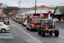 The fire trucks were l-o-u-d