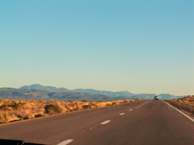 Road on fire - Arizona