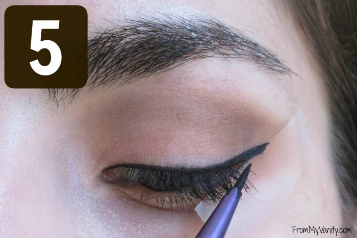 Secret to the Perfect Winged Liner Tutorial | Step 5 | FromMyVanity.com