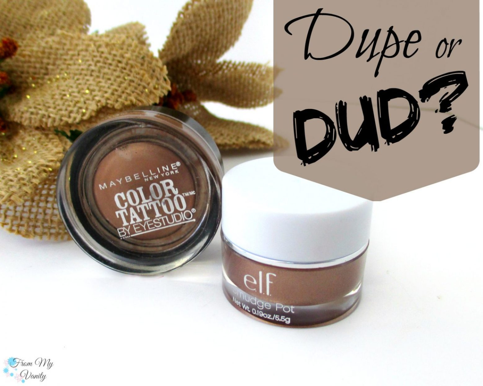 Dupe or Dud // Maybelline Color Tattoo vs ELF Smudge Pot // Bad to the Bronze // Cruisin Chic // FromMyVanity.com