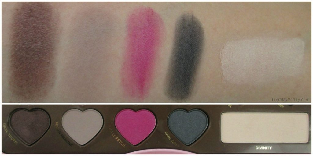 Too Faced Chocolate Bon Bons Palette // Review, Swatches, & Eye Looks // Row 3 Swatches // FromMyVanity.com