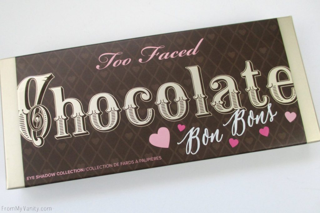 Too Faced Chocolate Bon Bons Palette // Review, Swatches, & Eye Looks // Packaging, Box // FromMyVanity.com