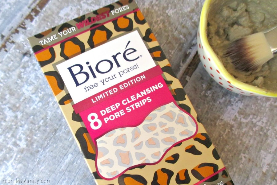 This limited edition Biore nose strips are the perfect addition to this DIY mud mask! // FromMyVanity.com