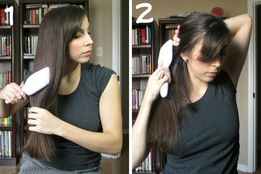 Quick Hairstyles for Busy Moms // Goody Brushes // Ponytail Steps 1 & 2 // FromMyVanity.com #goody #hairstyles