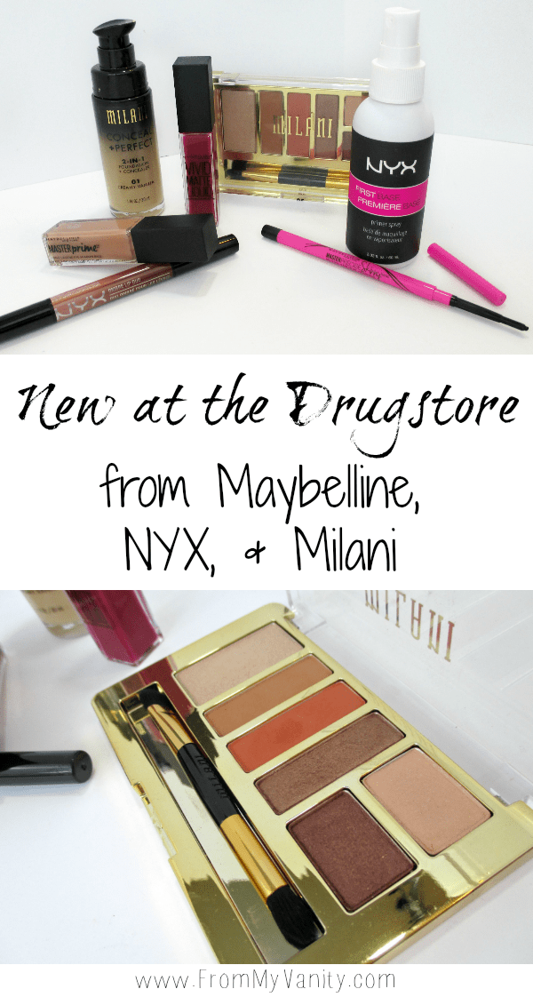 There are so many new products popping up at the drugstore! These products from Maybelline, NYX, and Milani really caught my eye. Some were great hits I added to my makeup collection, others were sad duds. Click for all the details --- FromMyVanity.com @LadyKaty92 #maybelline #nyx #milani