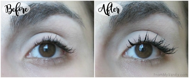 Just one coat of PUR Cosmetics Fully Charged Magnetic mascara does THIS to my lashes!