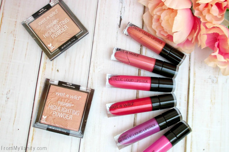 Highlighters and Liquid Lipsticks in the Wet n Wild Summer Collection
