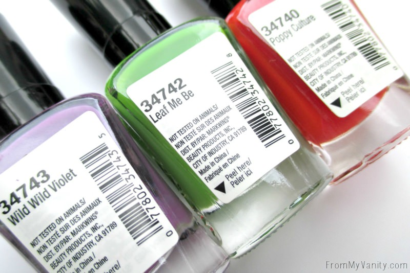 The new nail polish colors in the Wet n Wild Summer 2016 collection