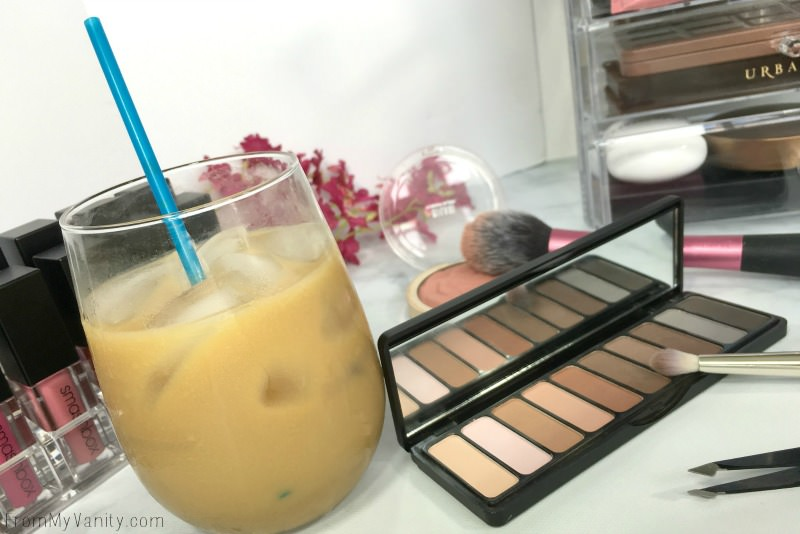 Iced coffee and makeup...the perfect combo!