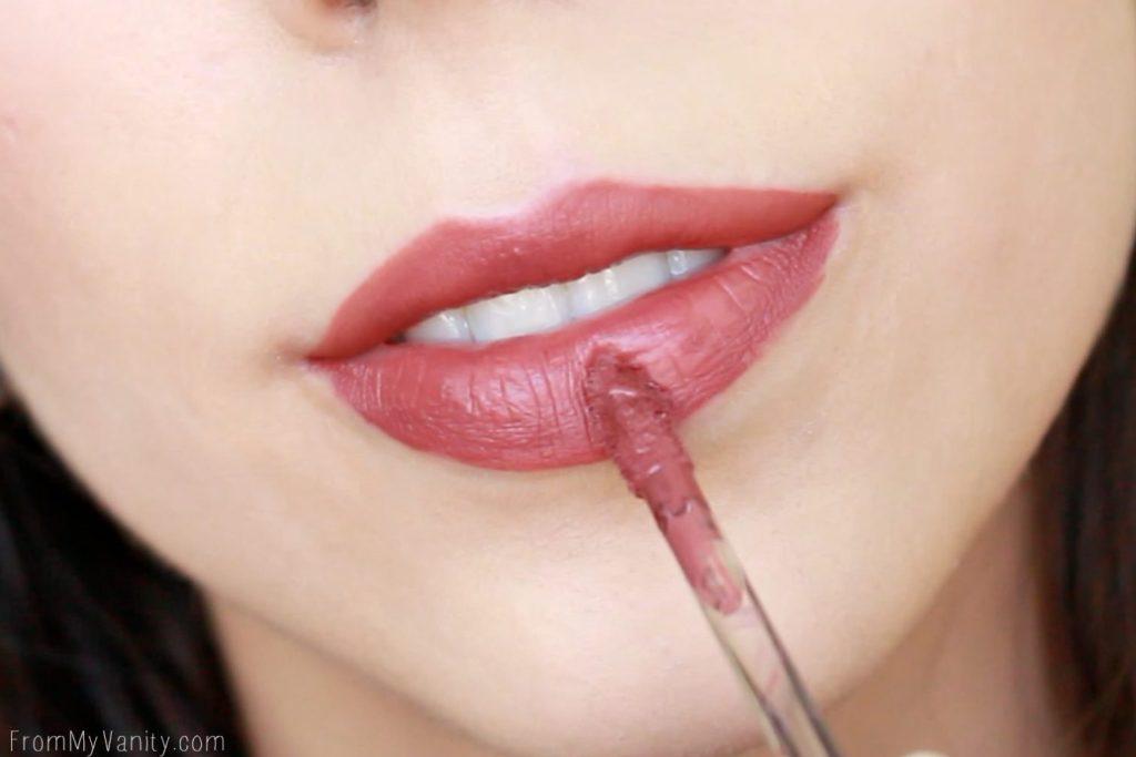 Wet n Wild Liquid Catsuit Matte Lipsticks | Give Me Mocha | Lip Swatch