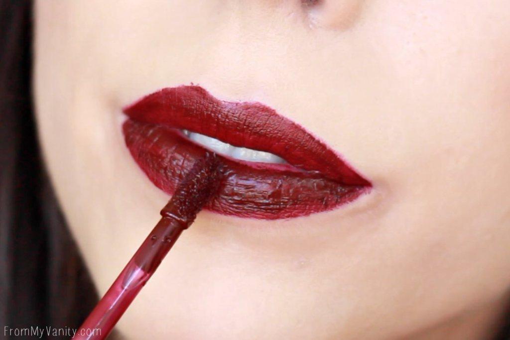 Wet n Wild Liquid Catsuit Matte Lipsticks | Video Vixen | Lip Swatch with Liner