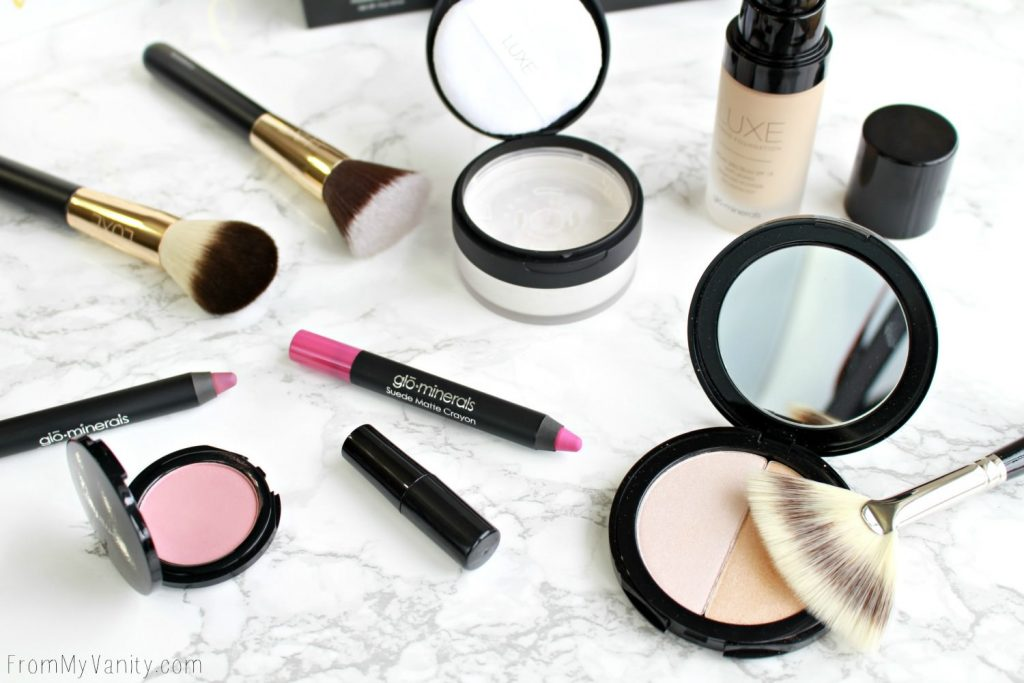 Date Night Makeup with Glo Minerals | Flatlay