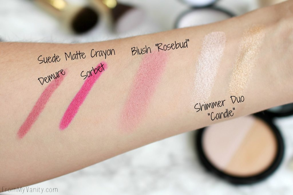 Date Night Makeup with Glo Minerals | Product Swatches