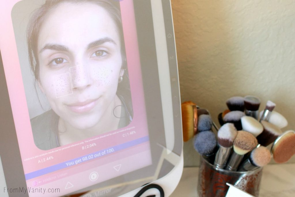The HiMirror PLUS shows you how to improve your skin's texture