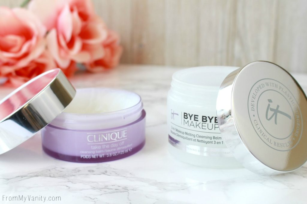 Clinique Take the Day Off vs IT Cosmetics Bye Bye Makeup | Cleansing Balm Comparison Post