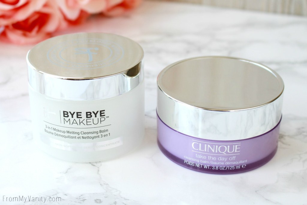 Clinique Take the Day Off Cleansing Balm vs IT Cosmetics Bye Bye Makeup Cleansing Balm