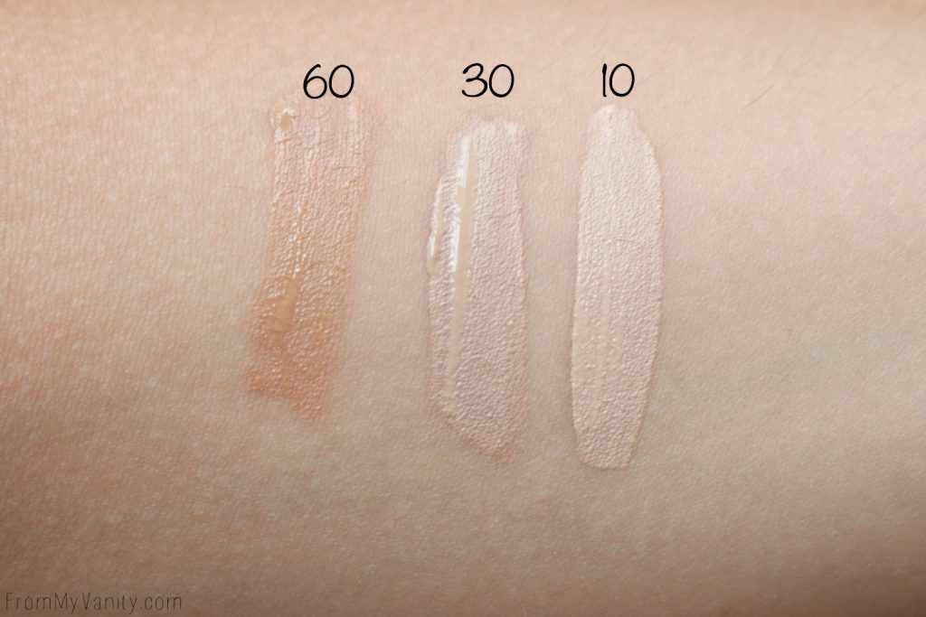 No7 Makeup | Reviews & Swatches | Radiant Glow Concealer Swatches | Colors 60, 30, 10