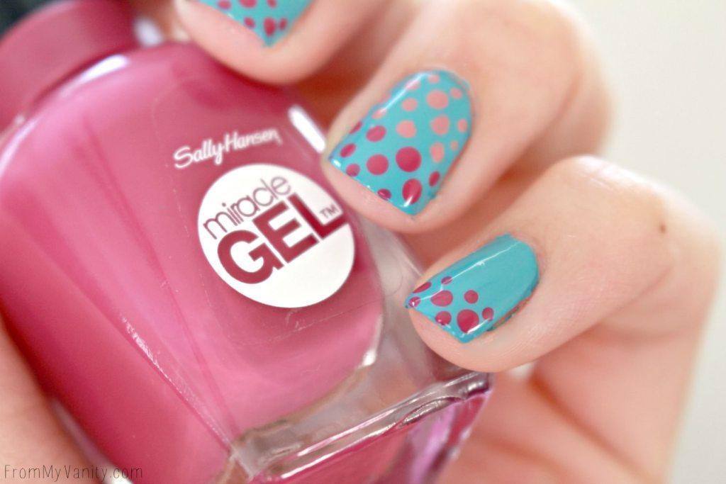 Easy Dotticure Nail Art   Tutorial   Sally Hansen Miracle Gel