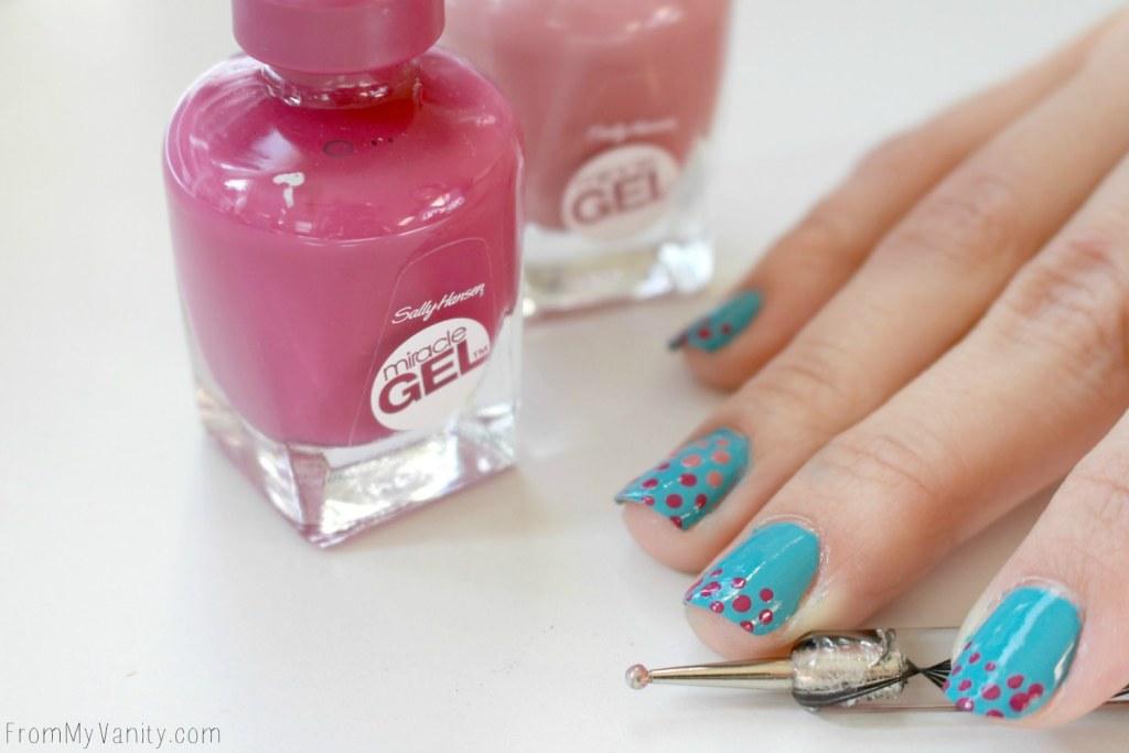 Easy Dotticure Nail Art   Tutorial   Step 5