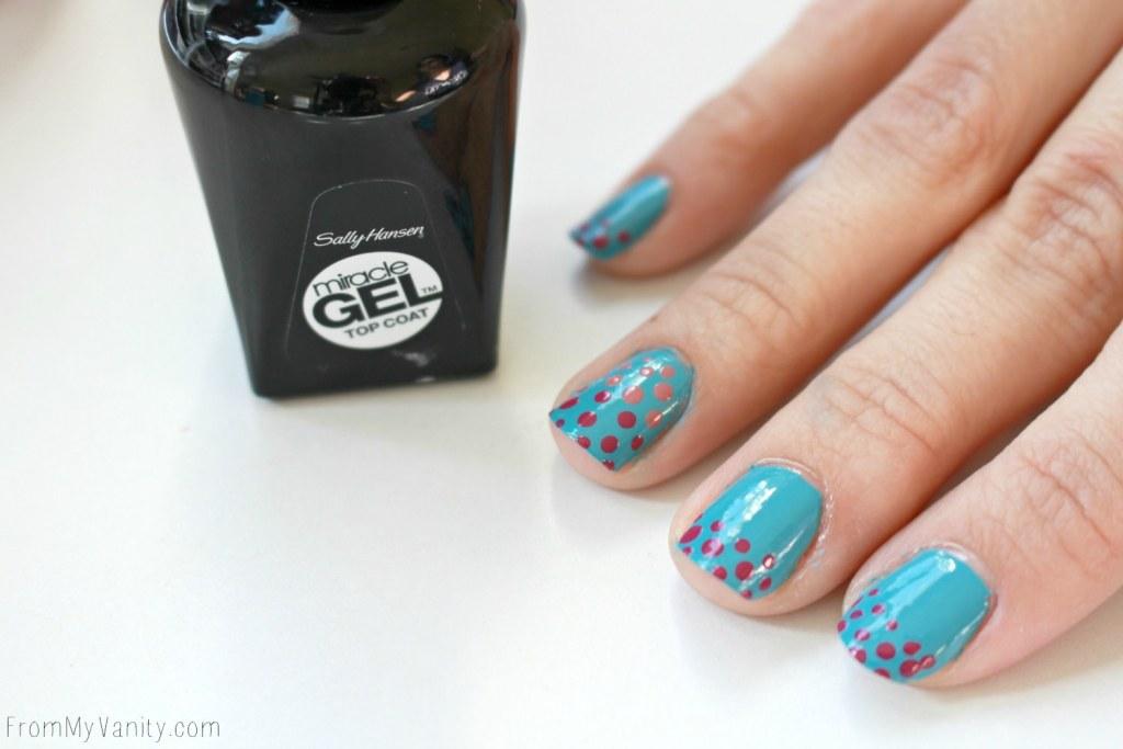 Easy Dotticure Nail Art   Tutorial   Step 6