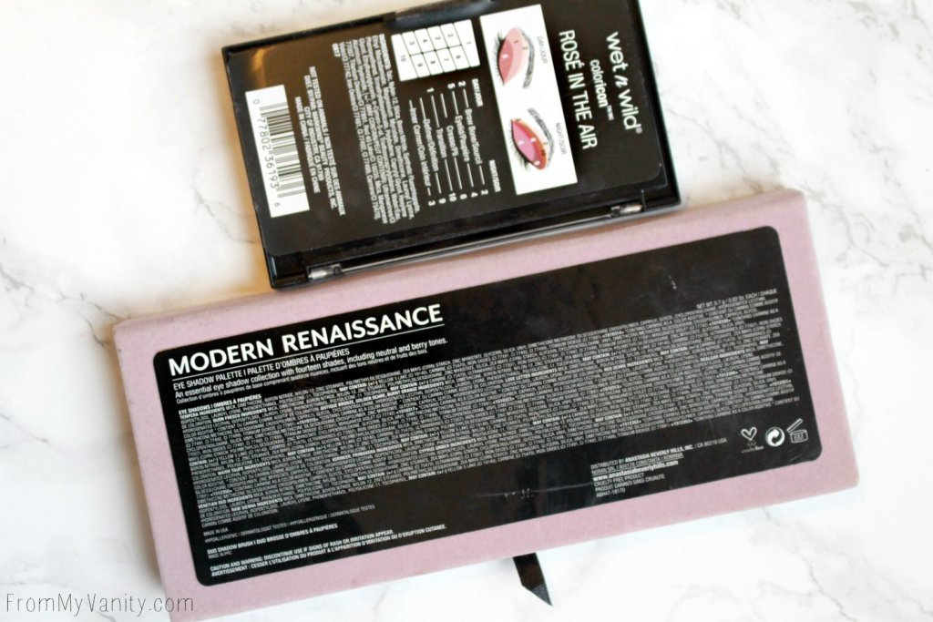 Dupe or Dud   ABH Modern Renaissance vs Wet n Wild Rosé in the Air Palette   Ingredient Lists