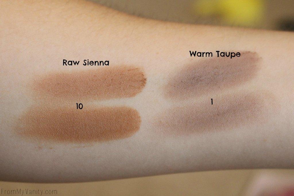 Dupe or Dud   ABH Modern Renaissance vs Wet n Wild Rosé in the Air Palette   Swatch Comparison, Third Row