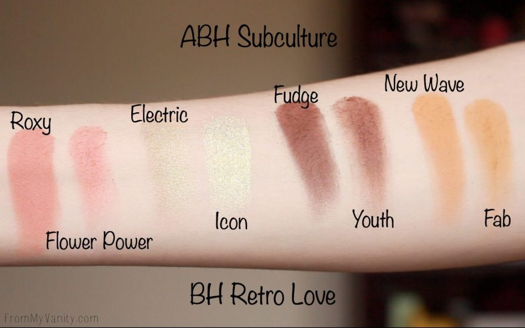 Dupe or Dud | ABH Subculture Palette vs Bad Habit Retro Love Palette | Eye Look Comparison! | Row 3 Swatches