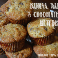Banana, Walnut & Chocolate Chip Muffins