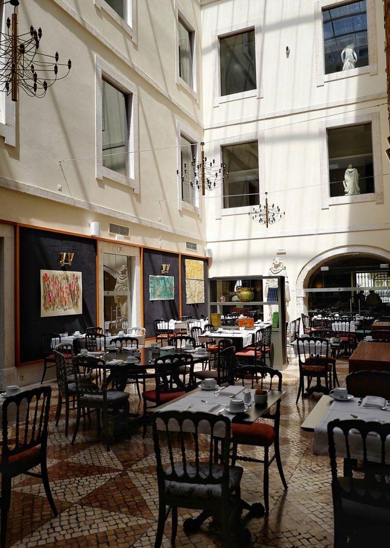 Salle du petit déjeuner Pousada Lisboa Portugal