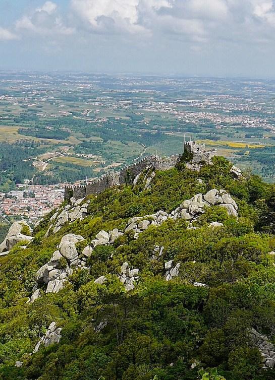 Vue sur le château des Maures